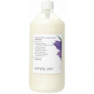 SIMPLY ZEN Age Benefit & Moisturizing Shampoo - Nawilżający szampon do włosów farbowanych lub delikatnie suchych 1l