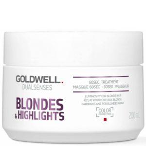 Goldwell Blondes&Highlights 60Sec Treatment - Maska do włosów blond 200ml