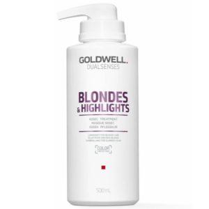 Goldwell Blondes&Highlights 60Sec Treatment - Maska do włosów blond 500ml