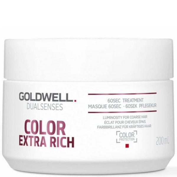 Goldwell Color Extra Rich 60sec Treatment - Maska do włosów farbowanych 200ml
