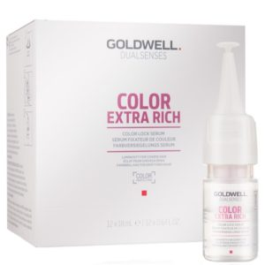 Goldwell Color Extra Rich Lock Serum - Serum w ampułkach do włosów farbowanych 12x18ml