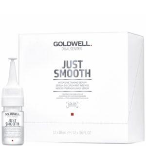 Goldwell Just Smooth Serum - Serum do włosów puszących się w ampułkach 12x18ml