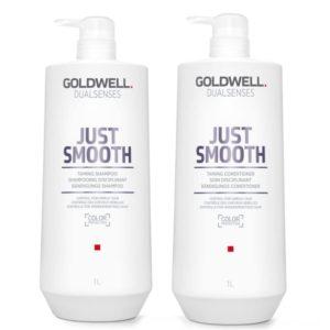 Goldwell Just Smooth szampon i odżywka do włosów puszących się 2x1000ml