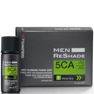 Goldwell Men Reshade 5CA - Zestaw do tuszowania siwizny dla mężczyzn 4x20ml