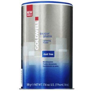 Goldwell Oxycur Dust Free Platin Blue - Niebieski bezpyłowy rozjaśniacz 500g