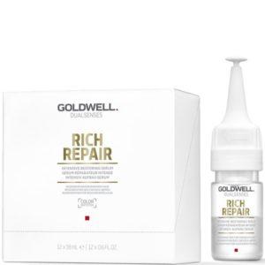 Goldwell Rich Repair Leave In Serum - Intensywne odbudowujące serum do włosów 12x18ml