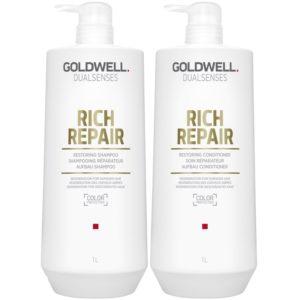 Goldwell Rich Repair - Zestaw szampon i odżywka do włosów intensywnie regenerująca 2x1000ml
