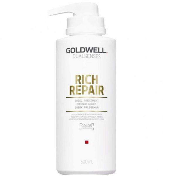Goldwell Rich Repair 60sec Treatment - Intensywna maska regenerująca do włosów 500ml