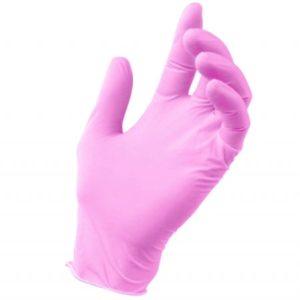 rękawiczki nitrylowe różowe rozmiar s