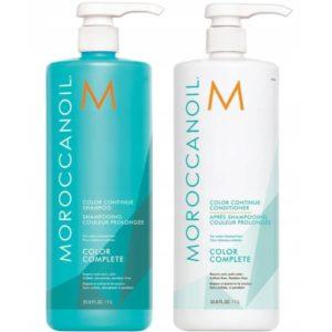 Zestaw Moroccanoil Color Continue Szampon + Odżywka 1L - Ochrona koloru