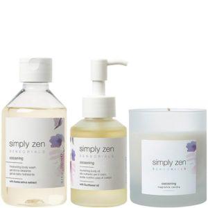 Zestaw SIMPLY ZEN Sensorials Cocooning - Otulający olejek, żel pod prysznic i świeca zapachowa