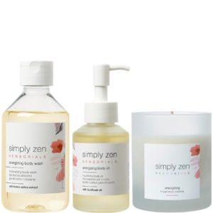 Zestaw SIMPLY ZEN Sensorials Energizing - Pobudzający olejek, żel pod prysznic i świeca zapachowa