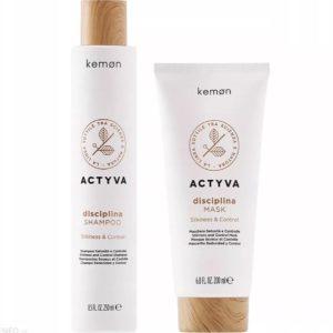 Kemon Actyva Disciplina - Zestaw Szampon 250ml + Maska 200ml