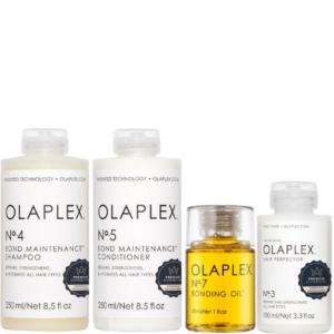 Zestaw Olaplex No.4 250ml + No.5 250ml + No.3 + No.7 - Kuracja do włosów zniszczonych