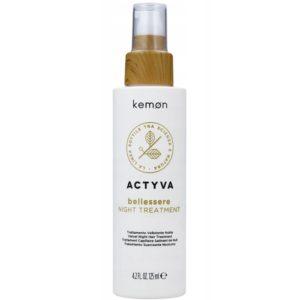 Kemon Actyva Bellessere Night Treatment - Aksamitna nawilżająca odżywka na noc bez spłukiwania 125ml