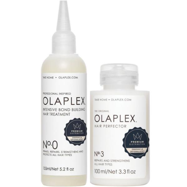 Zestaw olaplex No.0 + No.3 - Intensywna kuracja wzmacniająca włosy 155ml+100ml