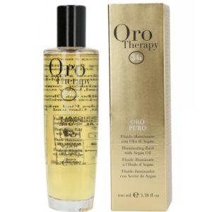 Fanola Oro Therapy - Rozświetlający olejek do włosów suchych i zniszczonych 100ml