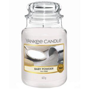 Yankee Candle Baby Powder - Duża świeca zapachowa 623g